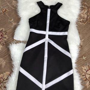 Cute black & white bisou bisou dress